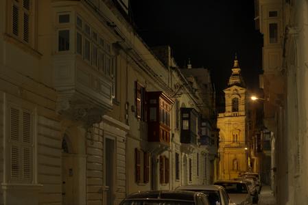 Мальта ночью