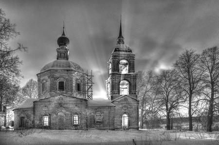 Село Семеновское зимой